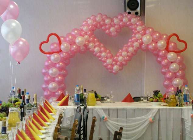 оформление шарами фото на свадьбу